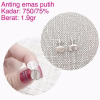 anting emas putih 1 9 Gram