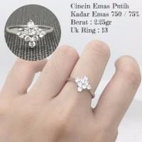 cincin emas putih 2 25 gram
