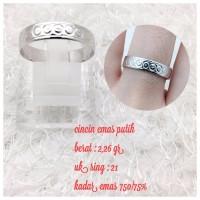 cincin emas putih 2 26 gram