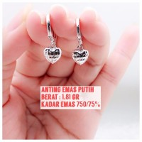 anting emas putih 1 81 gram