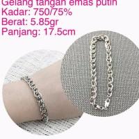 gelang tangan emas putih 5 85 gram