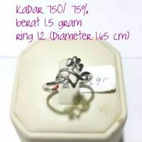 cincin emas putih 1 5 gram