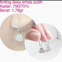 anting emas putih 1 78 gram