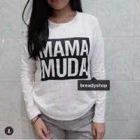 T-Shirt / Tumblr Tee / Kaos Wanita / Lengan Panjang Mama Muda / Baju