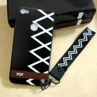 Softcase TPU Black Off White Tali Cover Case Casing HP Samsung J7 Plus