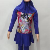 Baju Renang Berenang Muslim rok anak cewek TK my little pony