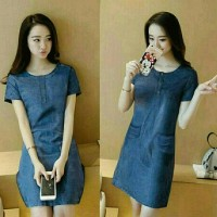 Terbaru Dress Clara Denim Bermutu