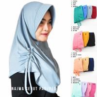 Jilbab Instan Najwa Pad/Ped Serut - Hijab Instan Khimar Instan
