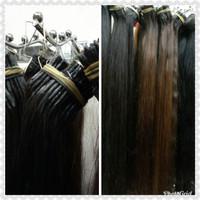 Rambut sambung 100%rambut asli hairextensions real hair 1ikat120 helai thumbnail