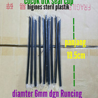 Sedotan Runcing Hitam Steril utk mini bubble/Black warpping film straw