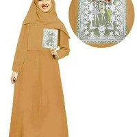Dijual Baju Muslim Anak Zahra Syari Mustard Gamis Anak Hijab Baju