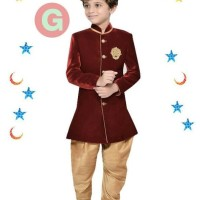 FK 38G Baju Koko Anak Kecil India Pakistan Lebaran Import Maroon