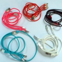 terbaru Kabel Charger HP Mobil Multi Port iPhone Android Aneka Warna