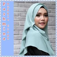 Jilbab Pashmina Bubble Crepe Bahan Diamond - Khafifah Hijab