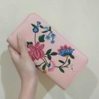 Dompet Wanita Stradivarius Original Pink Bordir