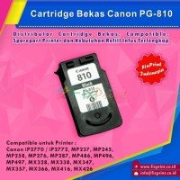 Tinta Cartridge Canon PG810 Bekas Printer iP2770 MP258 MP237 MP287