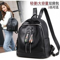 Ransel Punggung Backpack Hitam Import Pergi Kuliah Fashion Wanita