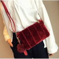 Tas Maroon Selempang Elegan Shoulder Bag Import Jalan Santai Wanita