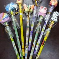 Pensil serut gratis penghapus lucu / fancy pencil