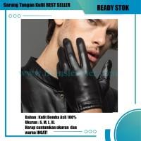 Sarung Tangan Kulit Model Cubit Hitam Frians Leather Shop TERBARU