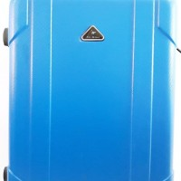 Koper Biru Blue Hard Case Keras 24 inch 4 Roda Dengan Combination Lock