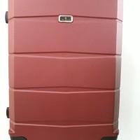 Koper Merah Hard Case Keras 24 inch 4 Roda Dgn Combination Lock Angka