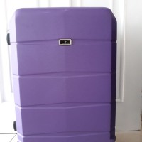 Koper Purple Ungu Hard Case 24 inch 4 Roda Dgn Combination Lock Angka