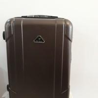 Koper Coklat Brown Hard Case Keras 24 inch 4 Roda Dgn Combination Lock