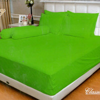 BEDCOVER SET VALLERY QUINCY 180 X 200 X 30 KING - EMBOS POLOS SALSA