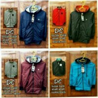 Jaket Anak Bomber DC 2 in 1, Mix Fleece dan Parasut. Diskon