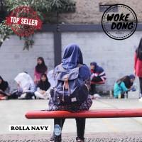 Tas Ransel kerja Kuliah sekolah Wanita Cewek Tuskbag Rolla navy