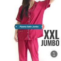 Piyama/Baju tidur satin untuk wanita dewasa ukuran jumbo XXL