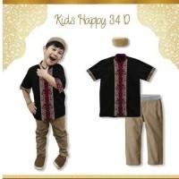 Setelan Koko Celana Dan Peci /Baju Anak Import Muslim 6 sd 10 ABS4661