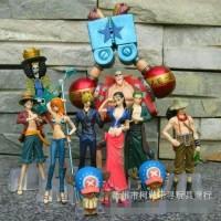 Harga pajangan hobi figure one piece set mugiwara crew luffy sanji nami | antitipu.com