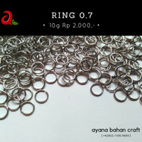 Ring Silver 0.7 Bahan Craft
