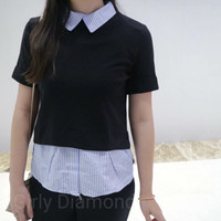Baju Executive Semi Blouse Blouse Wanita Terbaru(LI-02)