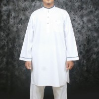 gamis pria atasan celana katun maqdis by al khoir