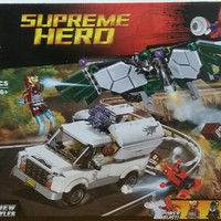Mainan anak lego superhero bela10746 supreme hero spiderman ironman