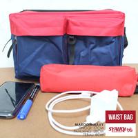 Waist Bag-Sling Bag / Tas Pinggang-Tas Selempang Syauqi Maroon-Navy