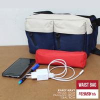 Waist Bag / Tas Pinggang-Tas Selempang Syauqi Khaki-Navy