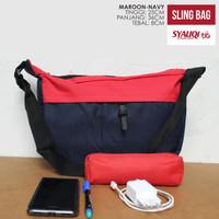 Sling Bag / Tas Selempang Syauqi Maroon-Navy