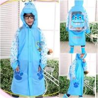 IMPORT ORIGINAL ASLI jas jaket PVC hujan biru muda tua Diskon