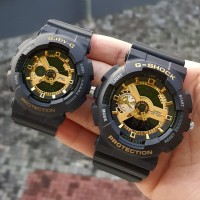 JAM TANGAN CASIO G-SHOCK BABY-G COUPLE BLACK GOLD