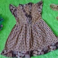 dress baju batik anak perempuan cewek 1-2th krah V sayap motif-08