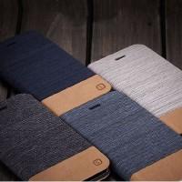 Wallet jeans flip case xiaomi redmi note 4x dompet denim cover canvas