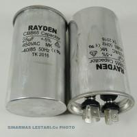 Kapasitor AC/Air Conditioner 1 PK 25 uF u 450VAC 50Hz Raiden