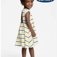 OLD NAVY STRIPE YELLOW DRESS / DRESS ANAK BRANDED / DRESS ANAK MURAH