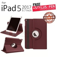 "Ipad 5 9.7"" 2017 - Rotating Leather Flip Case Book Cover"