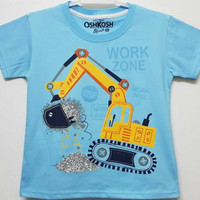 Baju kaos karakter anak laki-laki oshkosh work zone 1-6