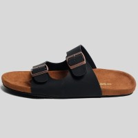 Sandal Pria dan Wanita- Morris Black Tan